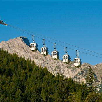 Karwendel Cable Car in summer