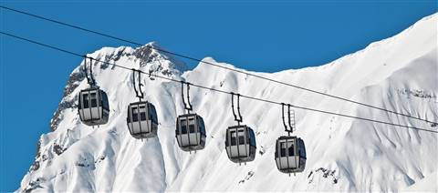 Karwendel cable cars during winter