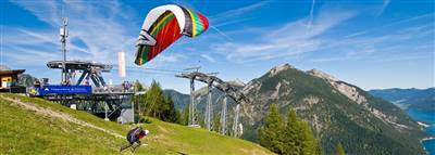 Paraglider on the mountain