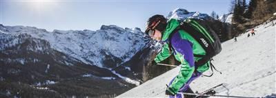 Skifahrer auf dem Berg