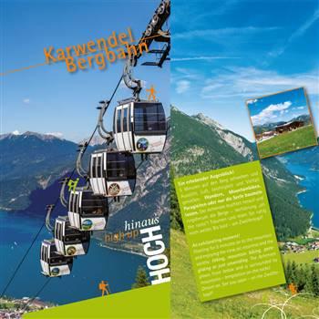 Sommer Broschüre zu den Karwendel Bergbahnen