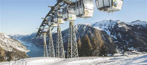 Karwendel cable cars during winter