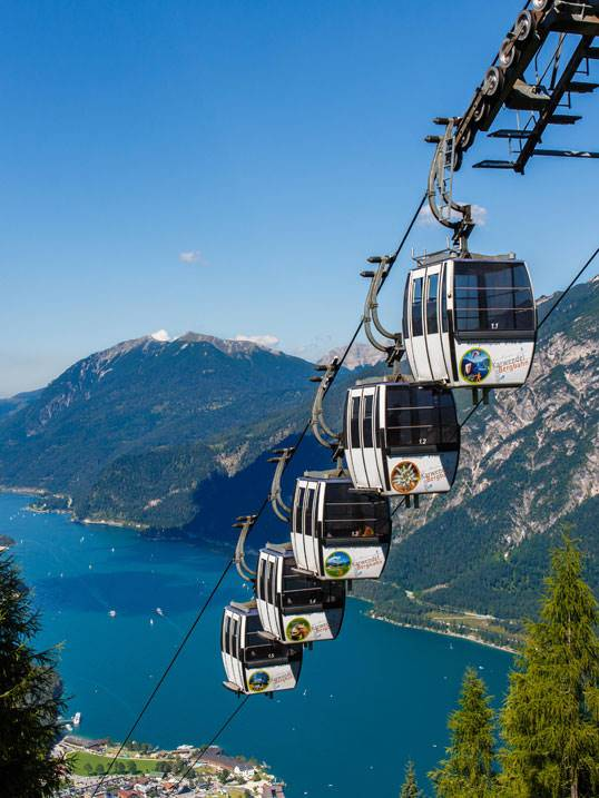 Gondola lift at the Achensee
