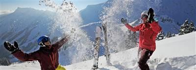 Skiier on the slpoe